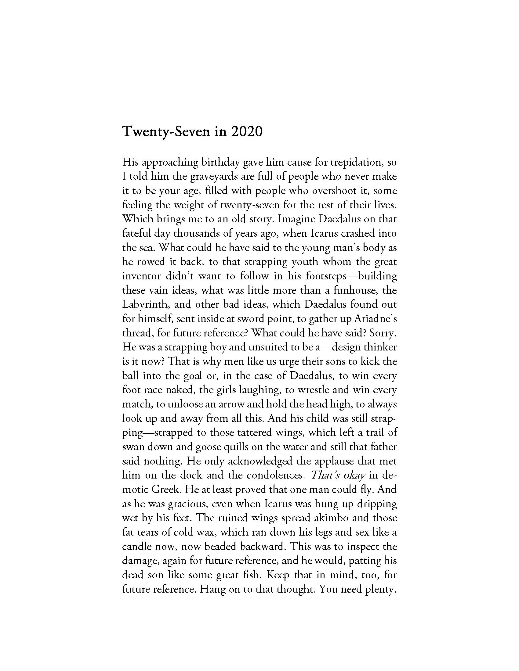 Twenty Seven - In 2020